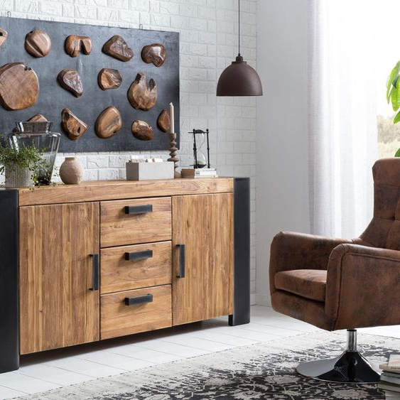 SIT Sessel Sit&Chairs Kunstleder braun Hocker SOFORT LIEFERBARE Möbel