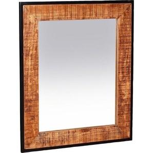 SIT Wandspiegel, Rahmen aus massivem Mangoholz und Metall