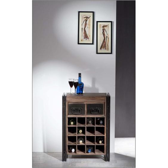SIT Weinregal Panama, im Industrial Design B/H/T: 58 cm x 80 35 beige Ständer, Halterungen Haken Aufbewahrung Ordnung Wohnaccessoires