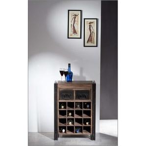 SIT Weinregal Panama, im Industrial Design B/H/T: 58 cm x 80 35 beige Regale Garderoben Nachhaltige Möbel