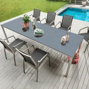 sitMOBILIA Gartentisch, Silber, Aluminium