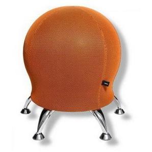 SITNESS 5 - Arbeitsstuhl Arbeitshocker Orange Stoff