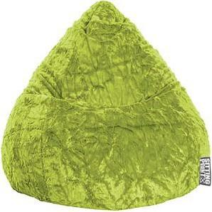 SITTING POINT Beanbag Fluffy L Sitzsack grün