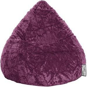 SITTING POINT Beanbag Fluffy L Sitzsack lila