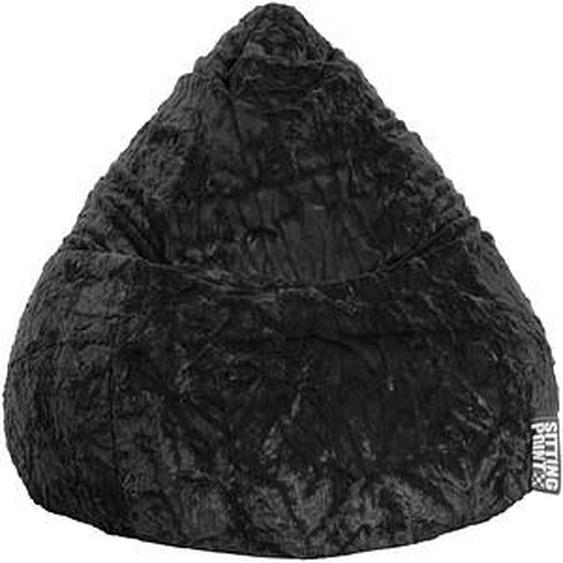 SITTING POINT Beanbag Fluffy XL Sitzsack schwarz