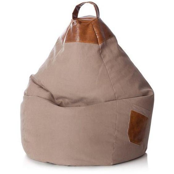 SITTING POINT Beanbag Jamie Sand 70x110x70 cm (BxHxT)