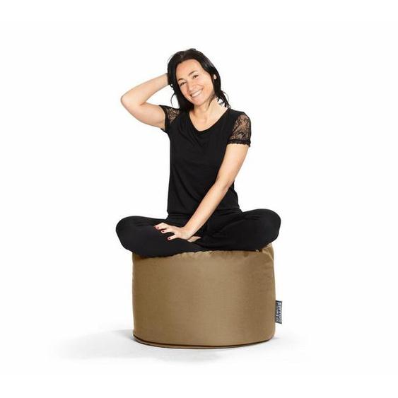 Sitting Point Sitzsack »Sitzhocker DotCom OUTSIDE«, outdoorfähig, braun