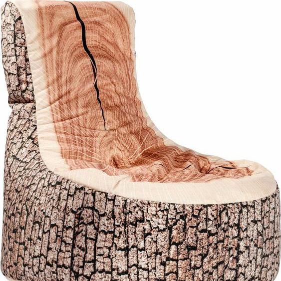 Sitting Point Sitzsack »Sitzsack Swing WOOD«, Holzoptik, beige