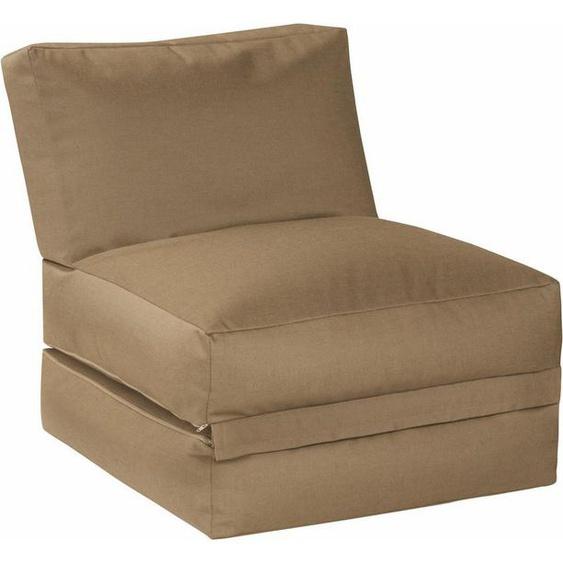 Sitting Point Sitzsack »Sitzsack und Sitzliege Twist OUTSIDE«, outdoorfähig, braun