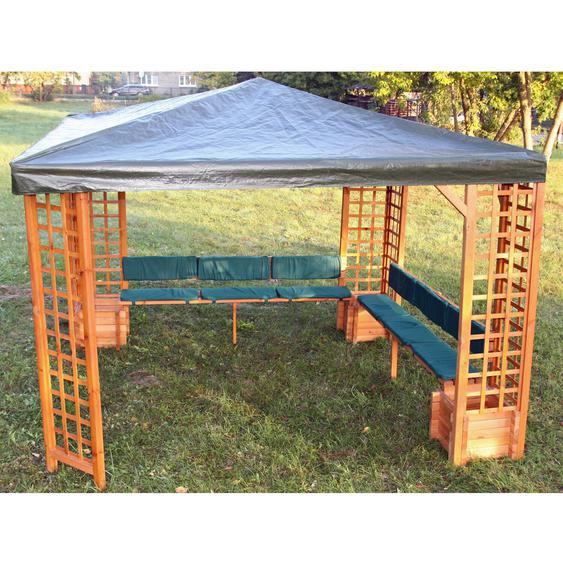 Sitz- & Rückenauflagen Grün für Pavillon Mindelheim