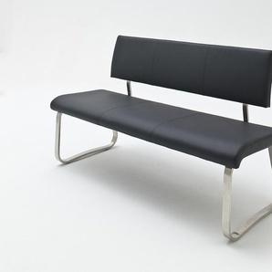 Sitzbank Arco Echt Leder schwarz 155 cm breit