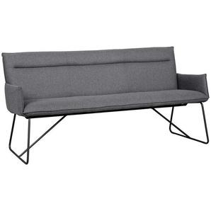Sitzbank aus Filz in dunkel Grau Stahl in Schwarz