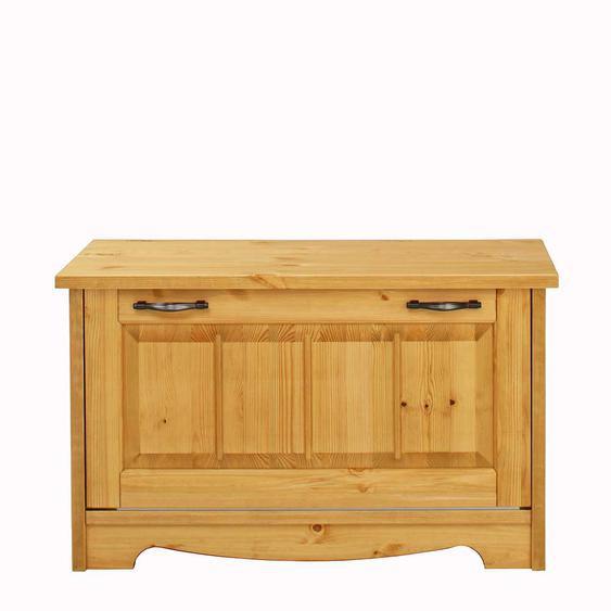 Sitzbank aus Kiefer Massivholz Schuhklappe