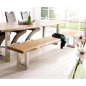 3-Sitzer Baracca 220x95 cm Braun Bauhausstil Kissen Sofa, 2 & 3 Sitzer