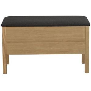 Sitzbank Belrose aus Holz mit Stauraum