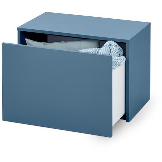 Sitzbank mit Schublade - Blau - Holz -