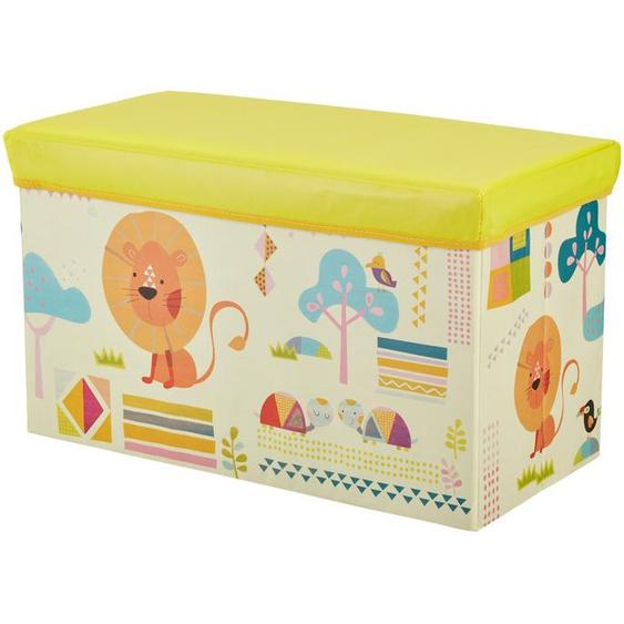 Sitzbank mit Stauraum - gelb - Bezug: 100% Polyester, Füllung: 100% Polyurethan, Einlagen aus Pappe   Möbel Kraft