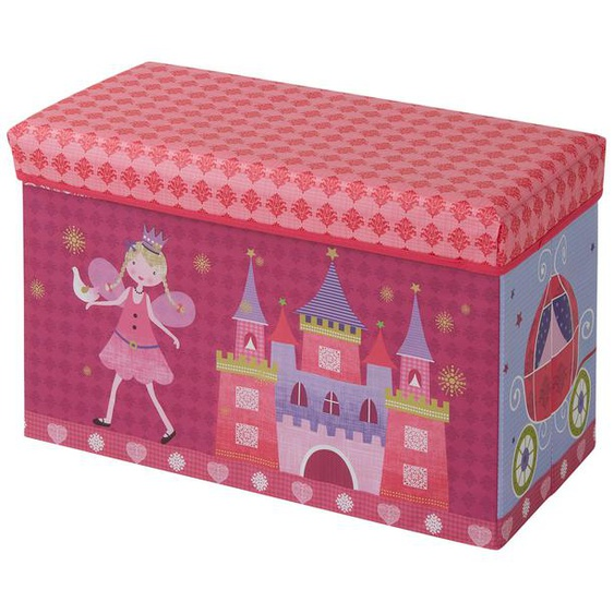 Sitzbank mit Stauraum - rosa/pink - Bezug: 100% Polyester, Füllung: 100% Polyurethan, Einlagen aus Pappe   Möbel Kraft