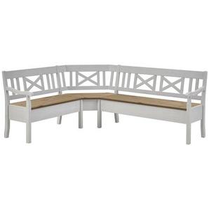 Sitzbank Fjord aus Holz mit Stauraum