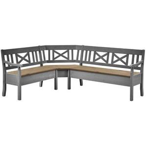 Sitzbank aus Holz mit Stauraum