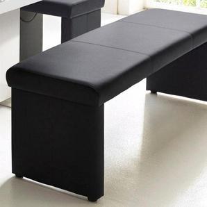 Sitzbank, schwarz, Homexperts, Pflegeleichtes Kunstleder