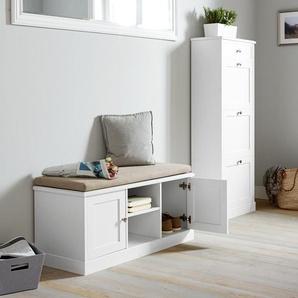 Sitzbank - silber - Holz -