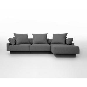 Sitzecke CUBAN, Schlafsofa 2 Personen, erweiterbar, flexibel zu stellen, moulare Wohnlandschaft, grau