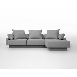 Sitzecke CUBAN, Schlafsofa 2 Personen, erweiterbar, flexibel zu stellen, moulare Wohnlandschaft, helles grau