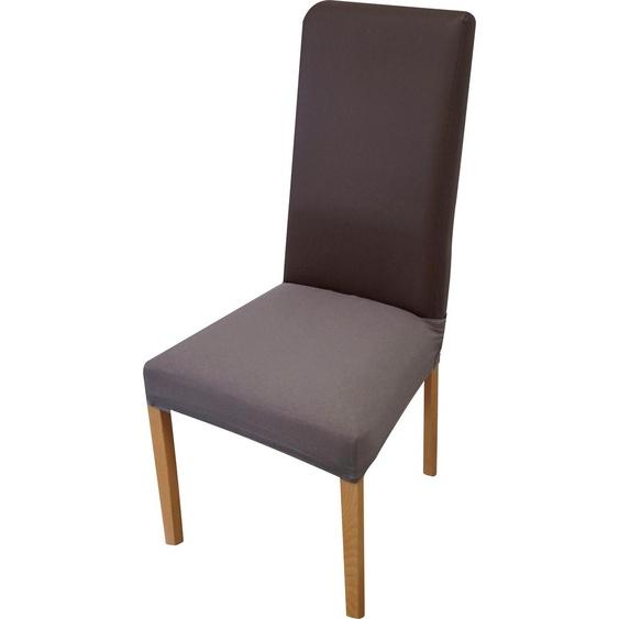 Sitzflächenhusse Miriam, Dohle&Menk Mischgewebe grau Stuhlhussen Hussen Überwürfe Husse