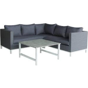 Sitzgarnitur für den Garten aus Aluminium Turin - Phoenix - Grau - HABITAT ET JARDIN