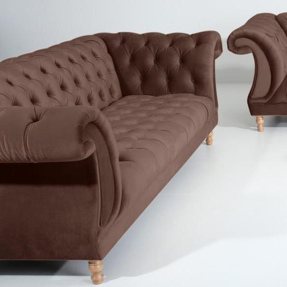 Sitzgruppe »Isabelle«, braun, Material Buche, Max Winzer®, 43 cm, 65 cm»Isabelle«