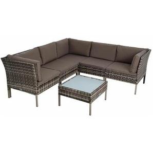 Sitzgruppe Rattan Gartenmöbel Polyrattan Set Garten-Lounge Gartenset Essgruppe - ESTEXO