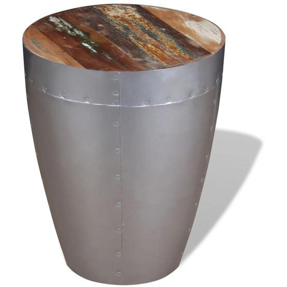 Sitzhocker im Retro-Industrie-Design Altholz