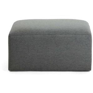 Sitzhocker in Dunkelgrau Webstoff 90 cm breit