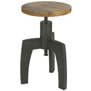 Sitzhocker in Schwarz Metall massiv drehbar und h�henverstellbar