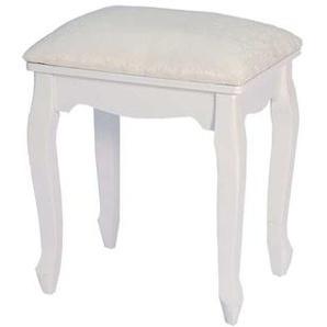 Sitzhocker in Weiß Sitzpolster