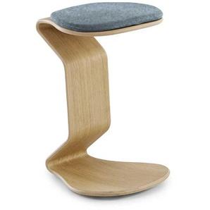 Sitzhocker mit Eiche furniert C Form