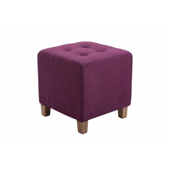 Sitzhocker Pharao, Stoffbezug Antik-hell Sitzwürfel, Fußhocker,