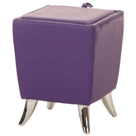 Sitzhocker Roxy Kunstleder Sitzwürfel Hocker Aufbewahrungsbox Stauraum