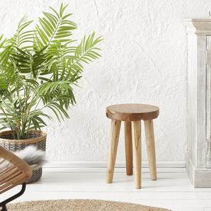 Sitzhocker Sanora 30x30 cm Teak Natur, Sitzhocker / Sitzwürfel