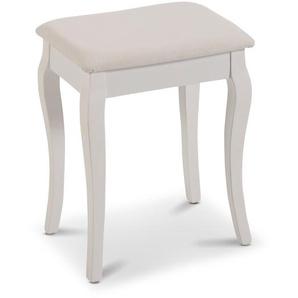 Sitzhocker ,Weiß ,Stoff