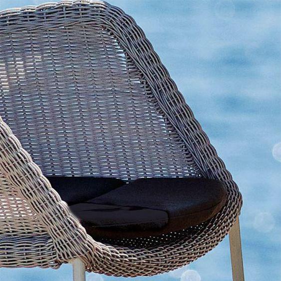 Sitzkissen (6 Stück) für Breeze Stapelstuhl schwarz, 2x49x47 cm