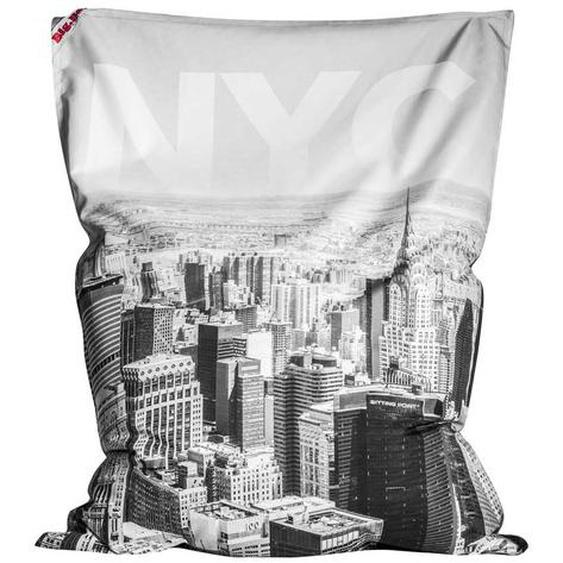 Sitzkissen in Schwarz Weiß New York Motiv