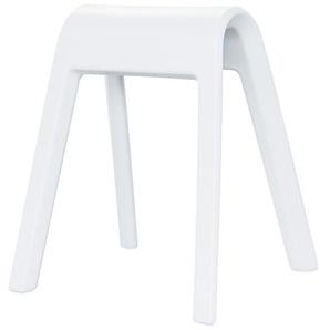 Sitzmöbel Sitzbock Wilkhahn weiß, Designer Rudolph Schelling Webermann, 71x63x52 cm