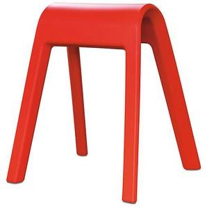 Sitzmöbel Sitzbock Wilkhahn rot, Designer Rudolph Schelling Webermann, 71x63x52 cm