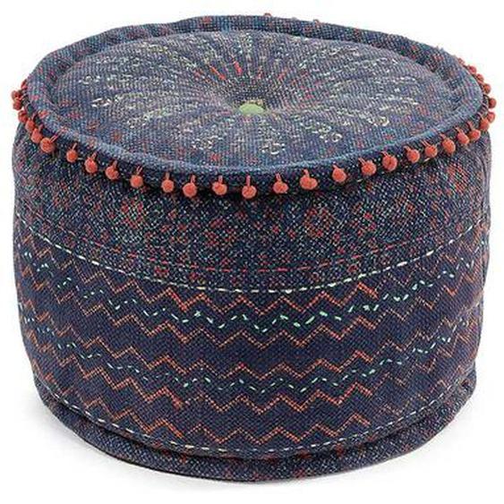 Sitzpouf in Bunt Webstoff orientalischen Design