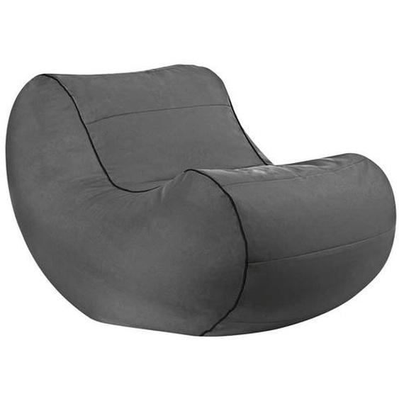Sitzsack als Sessel Anthrazit