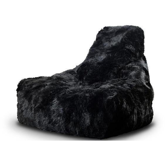 Sitzsack b-bag mighty-b fur mit Schafsfell