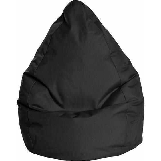 Sitzsack, B/T/H: 70x70x120 cm, schwarz, Material Polystyrol / Polyester »BRAVAL L«, Sitting Point