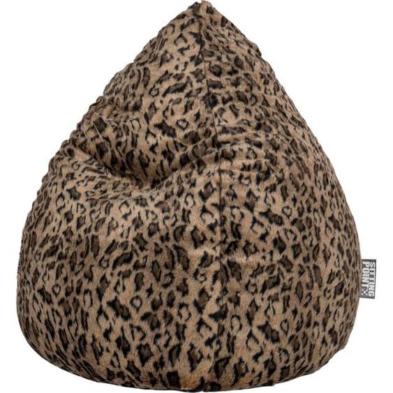 Sitzsack, braun, Material Polystyrol / Kunstfell / Polyacryl / Polyester »SKINS XL«, Sitting Point